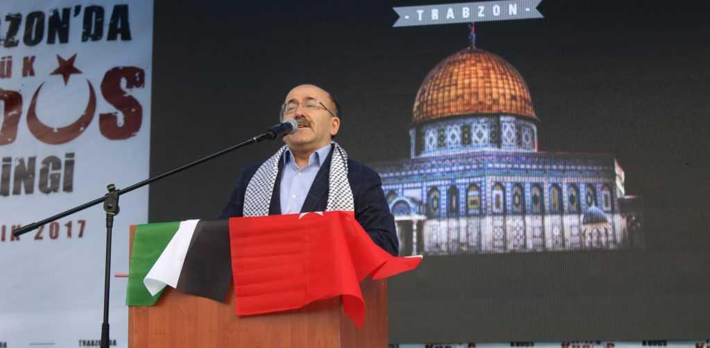 Trabzon'da Kudüs İçin Binlerce kişi yürüdü 2