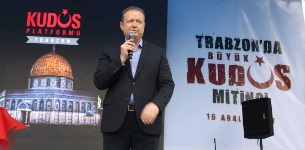 Trabzon'da Kudüs İçin Binlerce kişi yürüdü 1