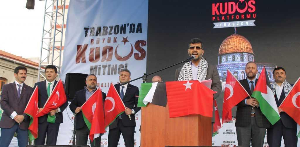 Trabzon'da Kudüs İçin Binlerce kişi yürüdü 4