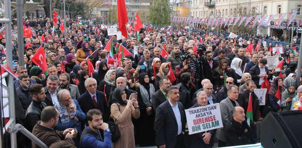 Trabzon'da Kudüs İçin Binlerce kişi yürüdü 5