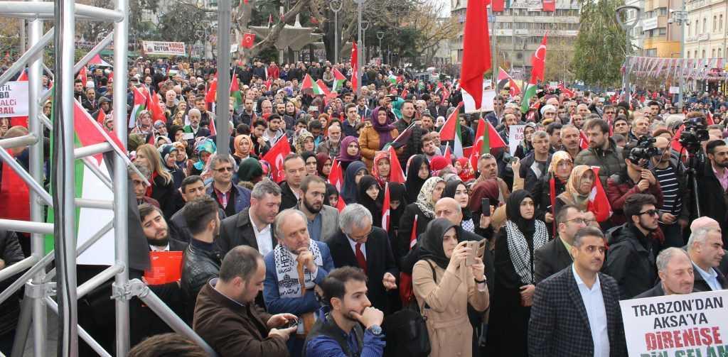 Trabzon'da Kudüs İçin Binlerce kişi yürüdü 6