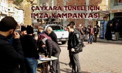 Çaykara'da tünel için imza kampanyası