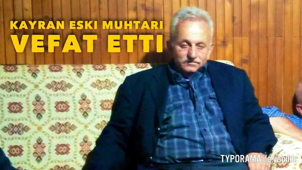 Çaykara'da eski muhtar hayatını kaybetti