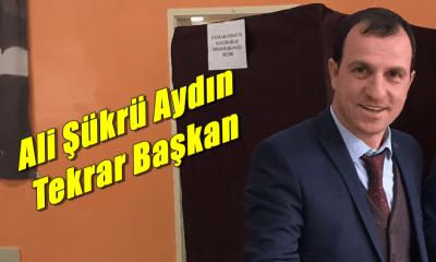 Ali Şükrü Aydın ikinci kez Çaykara Esnaf Odası başkanı seçildi