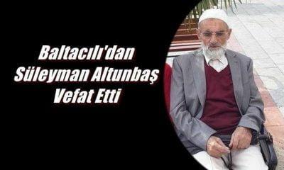 Süleyman Altunbaş Burhaniye'de vefat etti