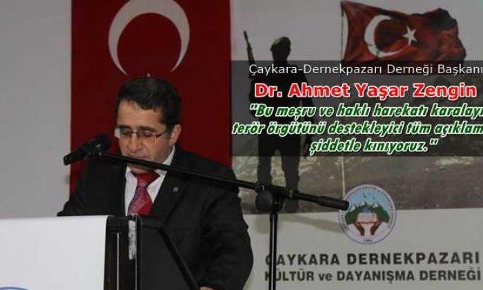 Ahmet Zengin: Bu meşru ve haklı harekatı karalayıcı, terör örgütünü destekleyici tüm açıklamaları şiddetle kınıyoruz