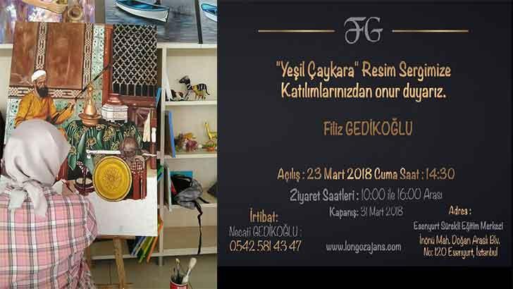 İstanbul'da Yeşil Çaykara resim sergisi