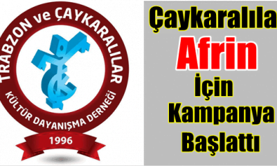 İstanbuldaki Çaykaralı Dernekten Afrine Yardım Kampanyası