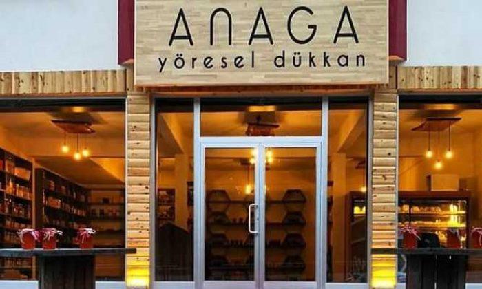 """Çaykara'da """"ANAGA"""" Yöresel ürünler dükkanı açıldı"""