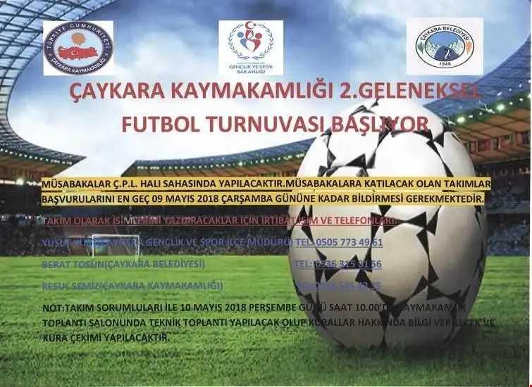 2018 Çaykara Kaymakamlık Futbol Turnuvası Başlıyor 1