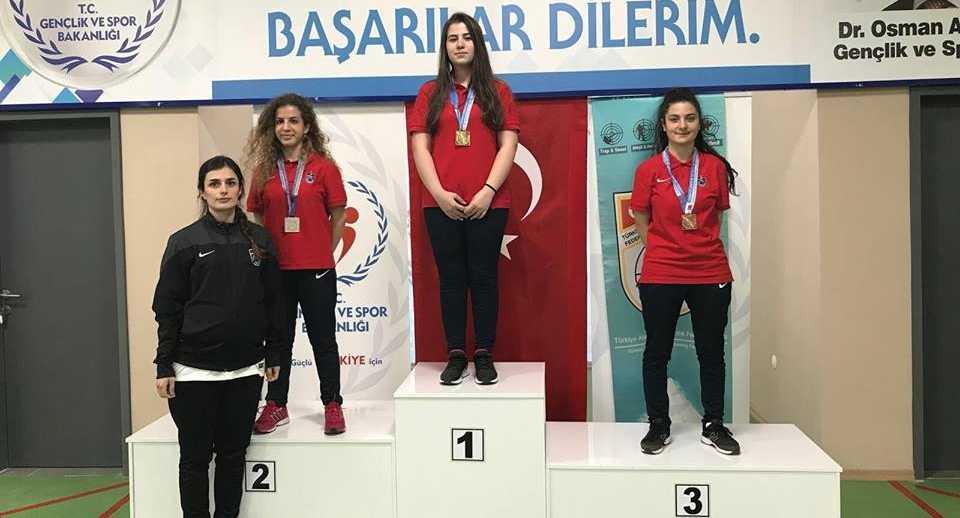 Atıcılıkta Türkiye rekoru Çaykara'dan