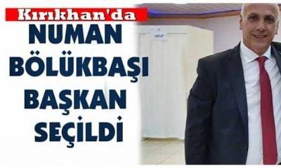 Kırıkhan'da Numan Bölükbaşı TSO Başkanı oldu