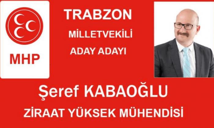 Şeref Kabaoğlu MHP Trabzon Milletvekili aday adayı