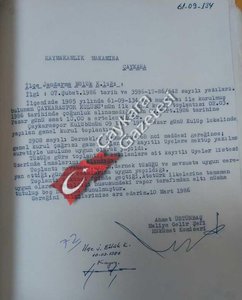 Çaykarasporun tarihi ve şampiyonlukları 4