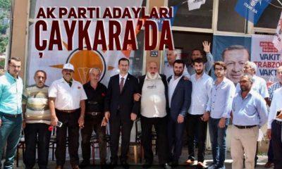Ak Parti adaylarından Çaykara çıkarması