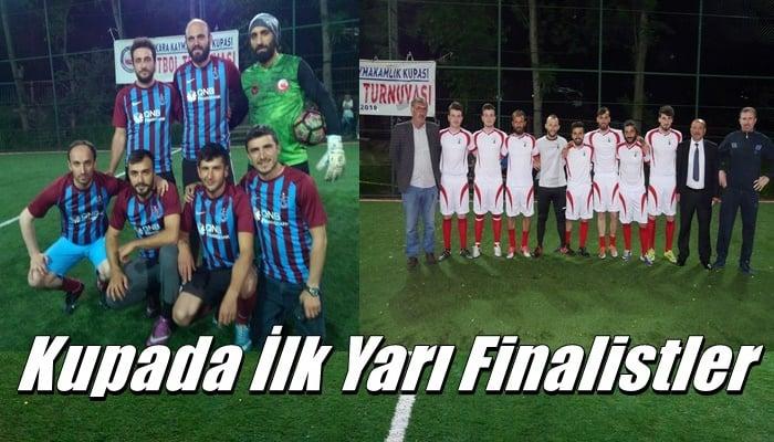 Çaykara Kaymakamlık Kupasında iki takım yarı finalde