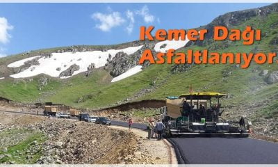 Dağ taş asfalt oldu: Kemer Dağı asfaltlanıyor