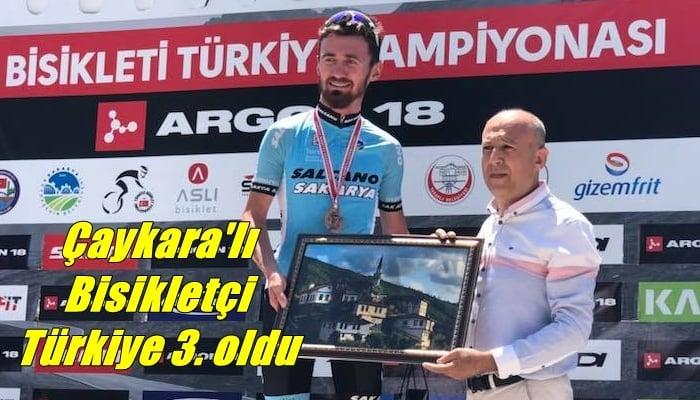 Mustafa Sayar Bisiklette Türkiye 3. oldu