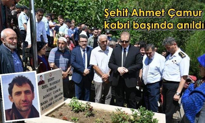Şehit Ahmet Çamur kabri başında anıldı