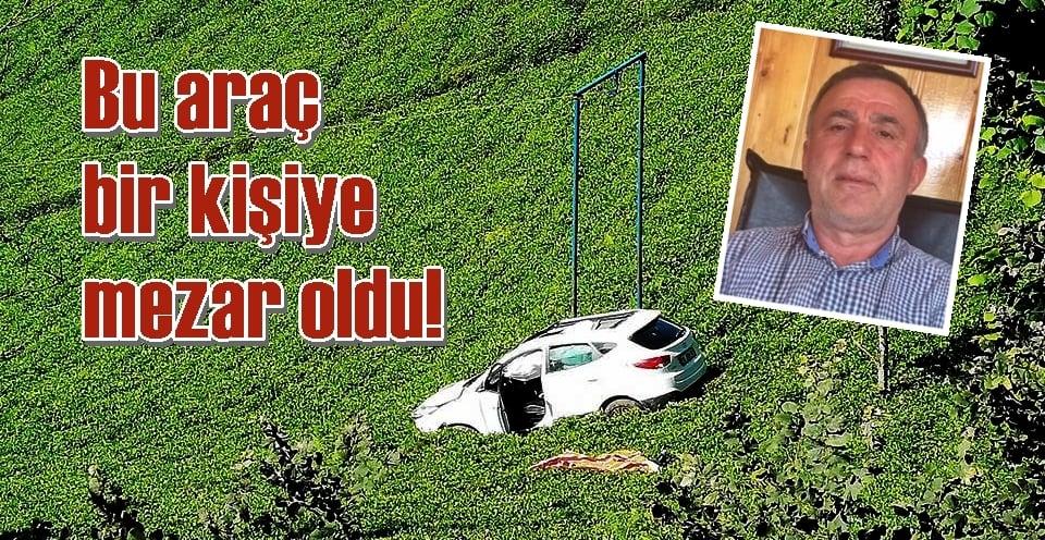 Akköse'de çay bahçesine uçan araçta can verdi