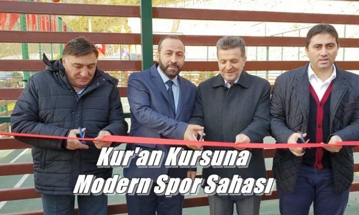 Kur'an kursuna ait modern spor sahası ve oyun parkının açılısı yapıldı
