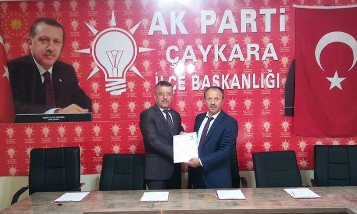 İbrahim Çelebi Çaykara'dan AK.Partiden aday adayı oldu