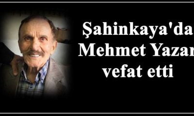 Mehmet Yazar vefat etti