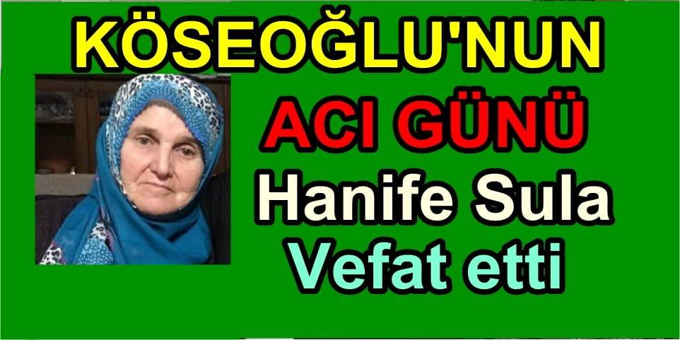 Ayşe Sula Köseoğlu'nun  Annesi vefat etti