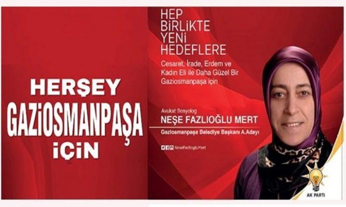 Çaykaralı  Sosyolog,  Avukat Neşe Fazlıoğlu Mert Gaziosmanpaşa'ya hizmet için yola çıktı