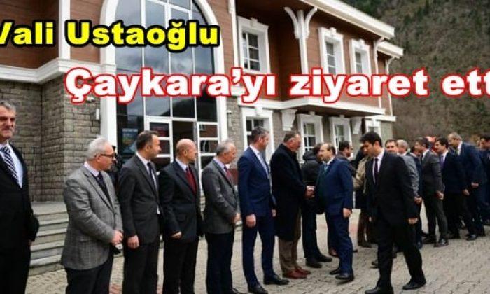 Vali Ustaoğlu'ndan Çaykara'ya ziyaret