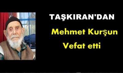 Taşkıran'dan Mehmet Kurşun vefat etti