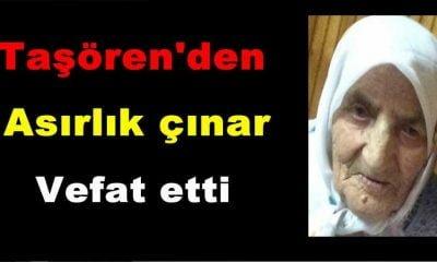 Fatma Kaya Taşören'de  vefat etti