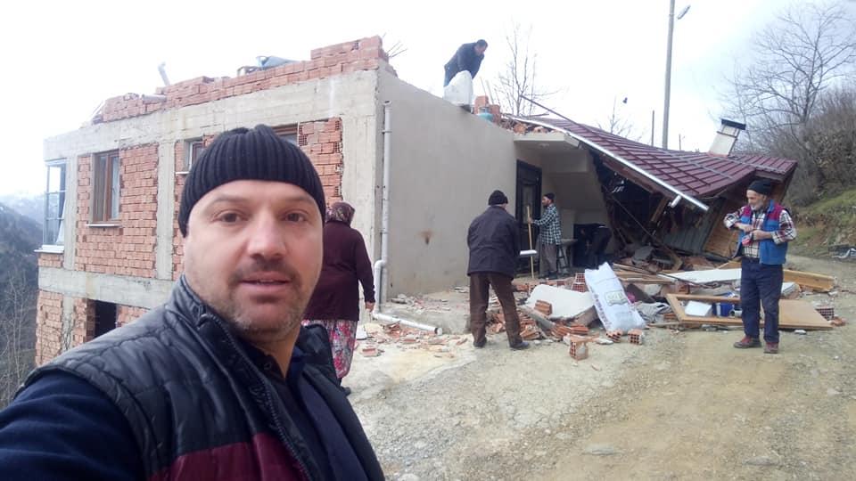 Fırtına Çaykara'yı yıktı geçti 2