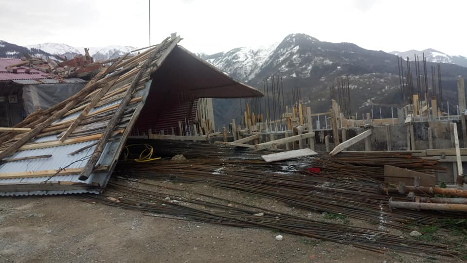 Fırtına Çaykara'yı yıktı geçti 5