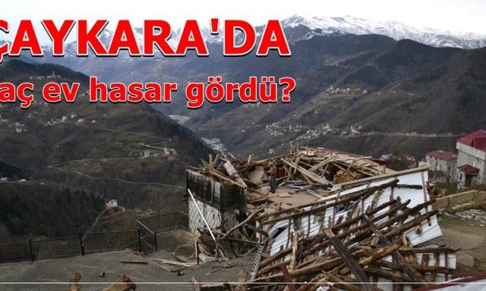 En büyük hasar Çaykara'da