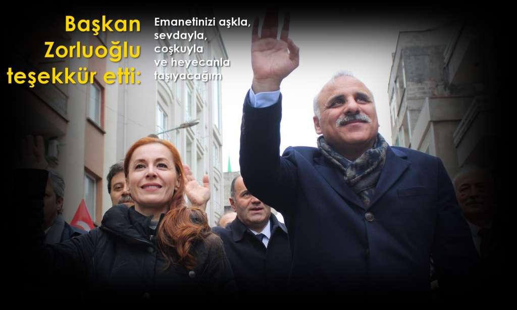 Başkan Murat Zorluoğlu teşekkür etti