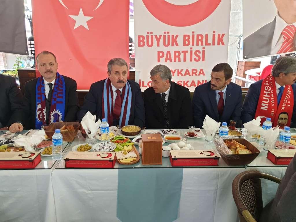 Büyük Birlik Partisi Genel Başkanı Mustafa Destici Çaykarayı ziyaret etti 11