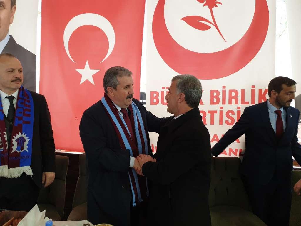 Büyük Birlik Partisi Genel Başkanı Mustafa Destici Çaykarayı ziyaret etti 2