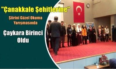"""""""Çanakkale Şehitlerine"""" Şiirini Ezbere Güzel Okuma Yarışmasında Çaykara  Trabzon Birincisi"""