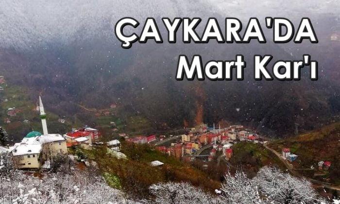 Çaykara'da Mart kapıdan baktırdı