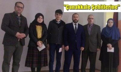 """Çaykara'da Liseler arası """"Çanakkale Şehitlerine"""" şiir okuma yarışması düzenlendi"""