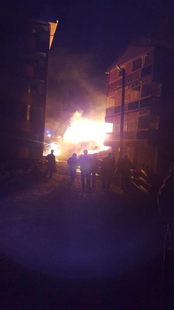 Eğridere'de çıkan yangında bir ev kül oldu 2