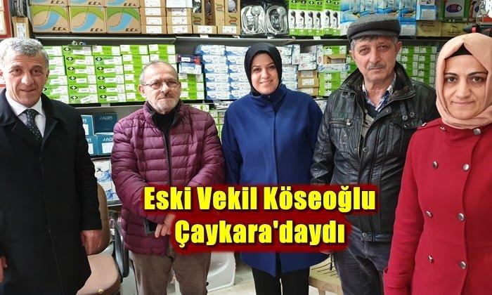 Eski vekil Ayşe Sula Köseoğlu Çaykara'daydı