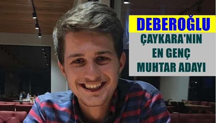 Ömer Deberoğlu Çaykara'nın en genç muhtar adayı oldu