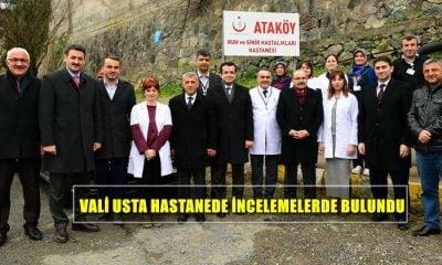 Trabzon Valisi İsmail Ustaoğlu Ataköy Ruh ve Sinir Hastalıkları Hastanesini ziyaret etti.