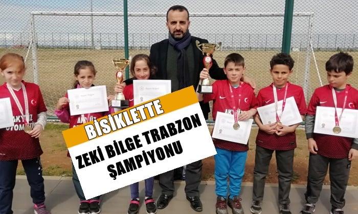 Zeki Bilge İlkokulu Bisiklette ferdi ve takım halinde Trabzon şampiyonu oldu