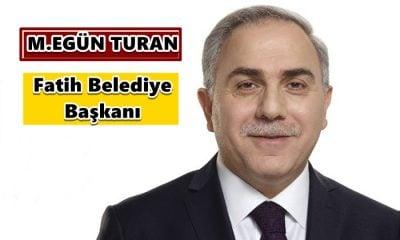 M.Ergün Turan Fatih Belediye Başkanı oldu