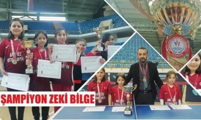 Zeki Bilge İlkokulu  Masa Tenisinde Trabzon şampiyonu oldu