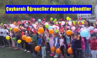 Çaykara'da geleneksel hale gelen Çocuk oyunları şenliği yapıldı.