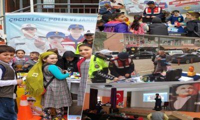 """Çaykara'da """"Trafik Haftası"""" çeşitli etkinliklerle kutlandı"""